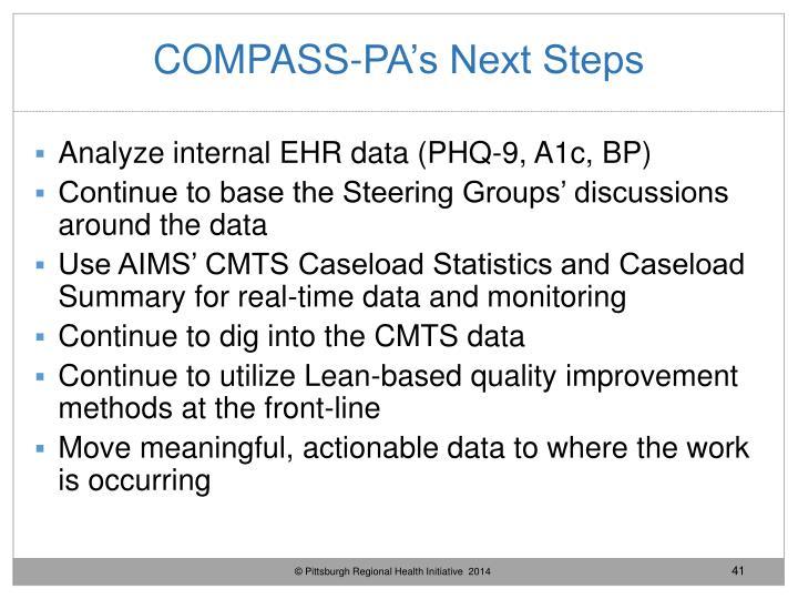 COMPASS-PA's Next Steps
