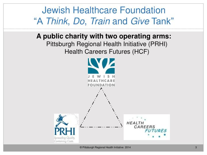 Jewish healthcare foundation a think do train and give tank