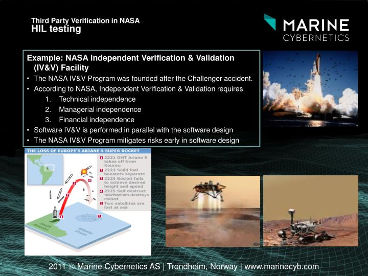 Third Party Verification in NASA