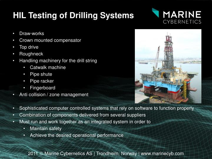 HIL Testing of Drilling Systems