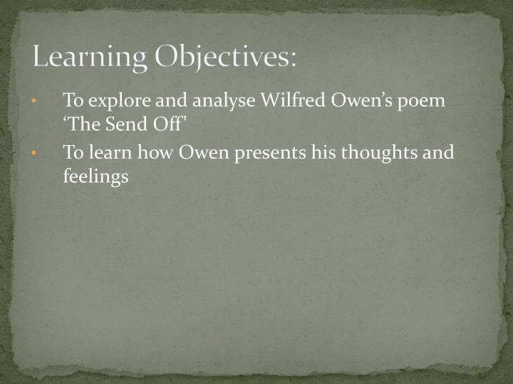 the send off poem