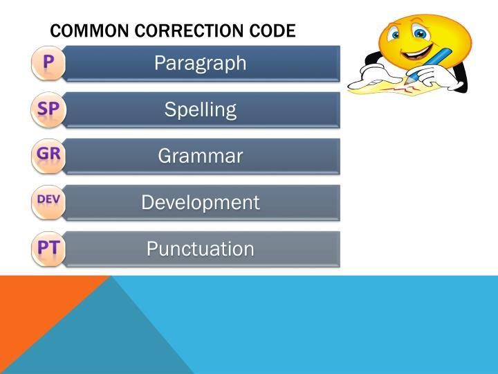 Common Correction Code