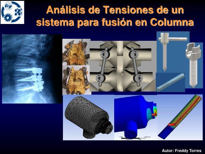 Análisis de Tensiones de un sistema para fusión en Columna