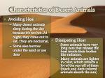 characteristics of desert animals