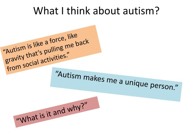 what i think about autism n.