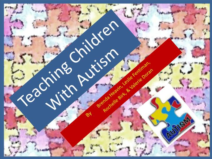 teaching children with autism n.