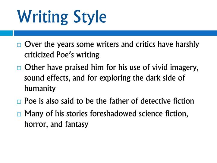 poes writing style