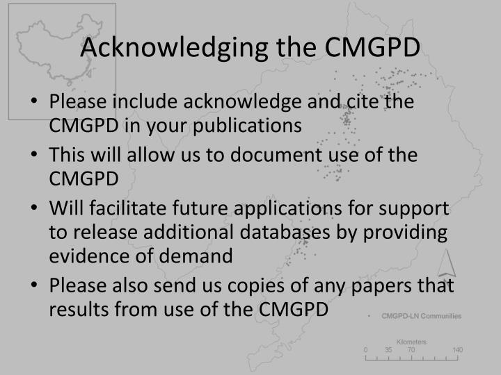 Acknowledging the cmgpd