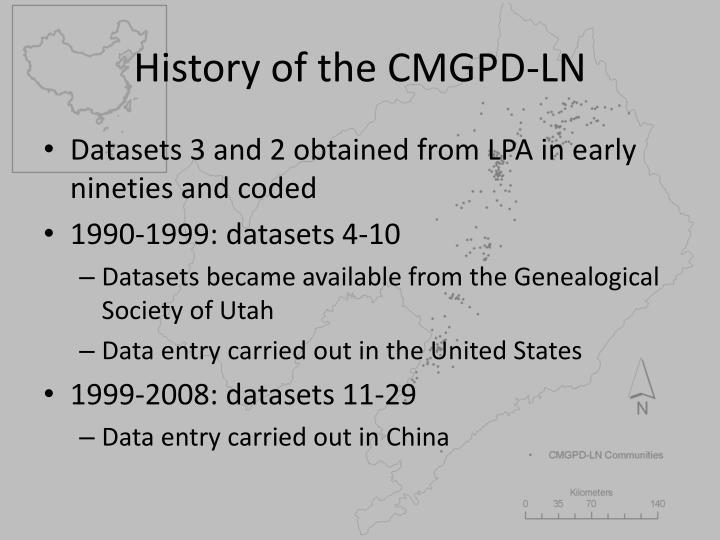 History of the CMGPD-LN