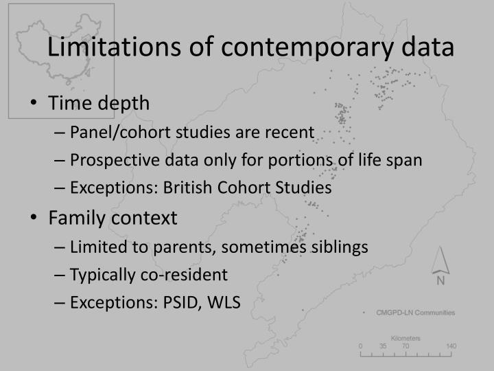 Limitations of contemporary data