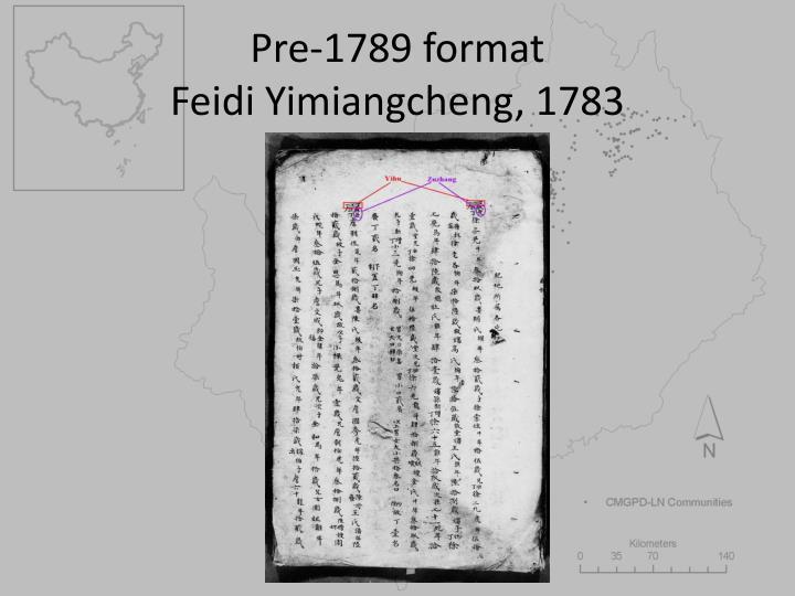 Pre-1789 format