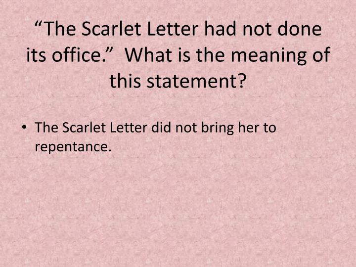 PPT   The Scarlet Letter PowerPoint Presentation   ID:2349520