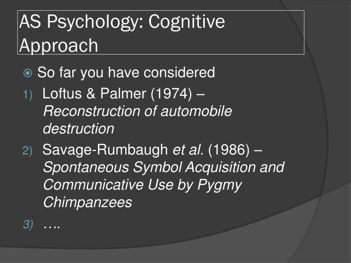 loftus and palmer psychology ia Study flashcards on psychology-loftus and palmer at cramcom quickly memorize the terms, phrases and much more cramcom makes it easy to get the grade you want psychology-loftus and palmer by masterbabs, mar 2015.