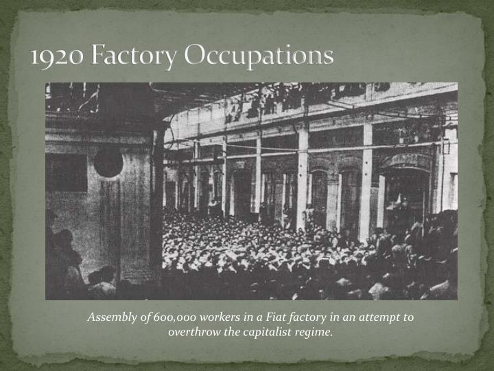1920 factory occupations