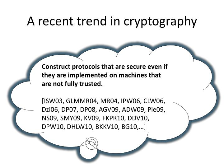 A recent trend in cryptography
