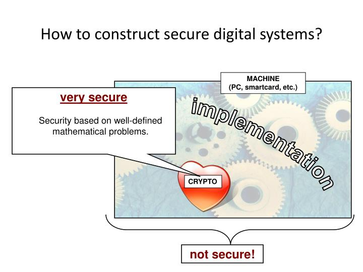How to construct secure digital systems