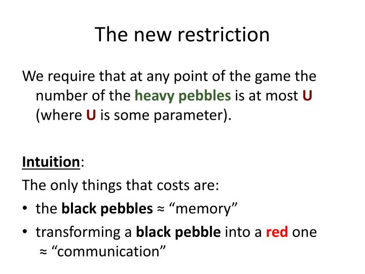 The new restriction