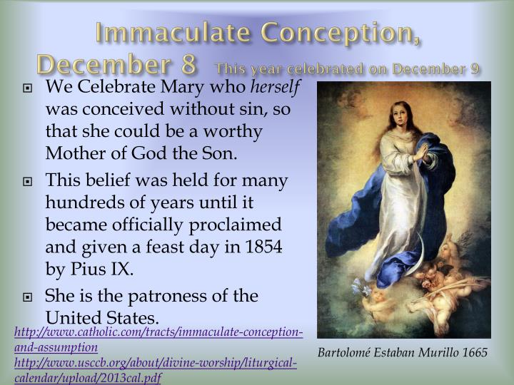 Immaculate Conception,