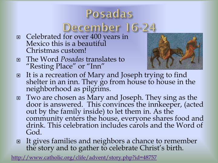 Posadas                                               December 16-24
