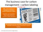 the business case for carbon management car bon labeling uk carbon trust