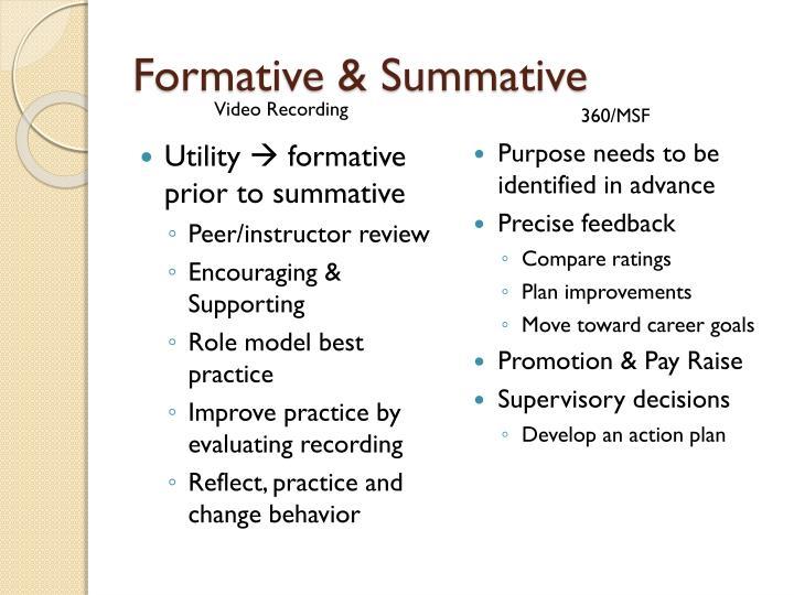 Formative & Summative