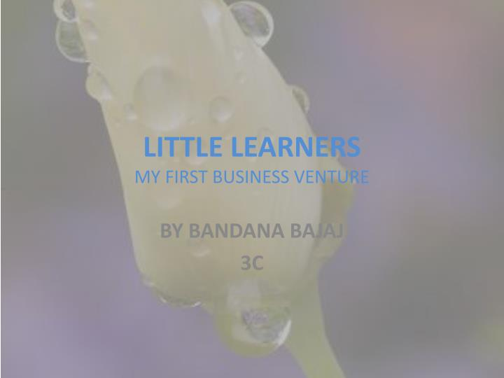 little learners my first business venture n.