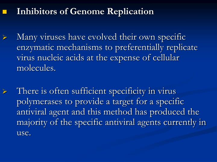Inhibitors of Genome Replication