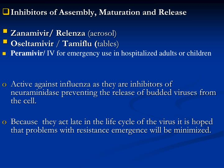 Inhibitors of Assembly, Maturation and Release