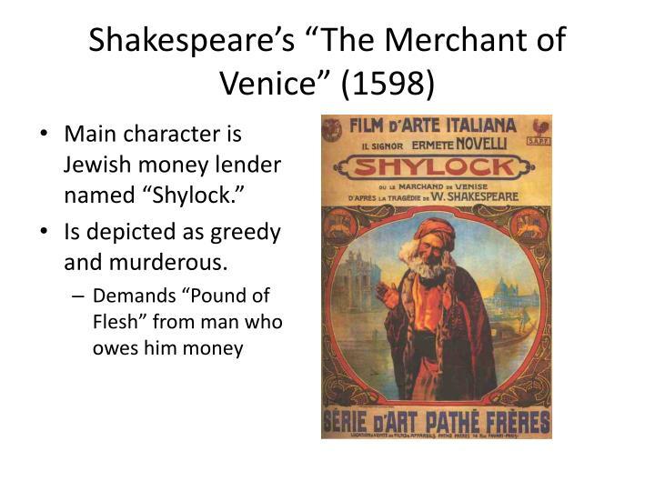 "Shakespeare's ""The Merchant of Venice"" (1598)"
