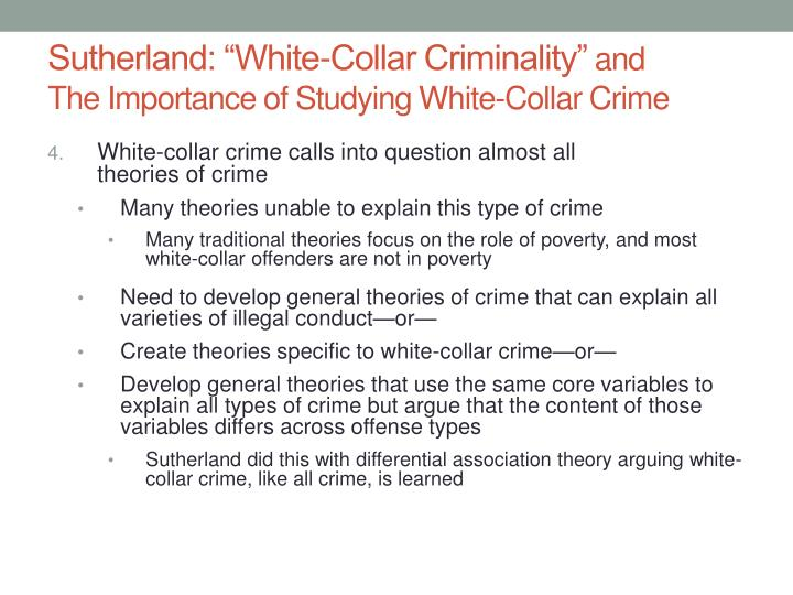 the significance of the white collar crimes Rise of the white collar crimes white collar crime statistics (accessed in 2012.