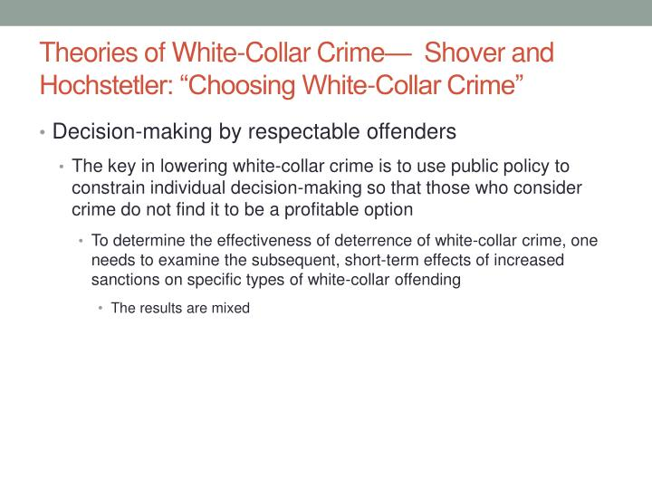social conflict theory and white collar crime Use this printable worksheet and interactive quiz alongside the lesson on social-conflict theory and crime to white collar crime social-conflict theory.