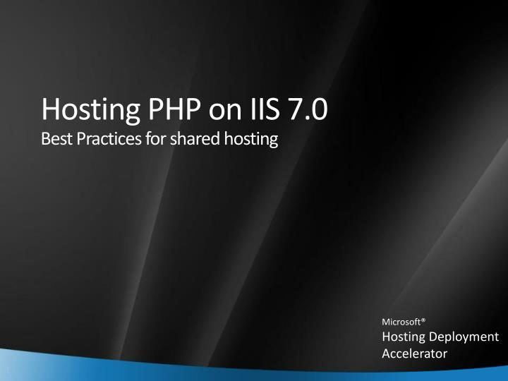 hosting php on iis 7 0 best practices for shared hosting n.