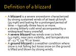definition of a blizzard