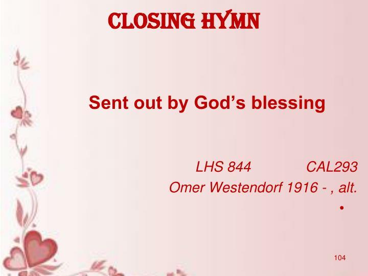 Closing hymn
