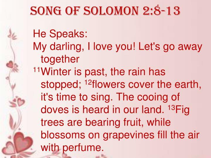 Song of Solomon 2:8-13