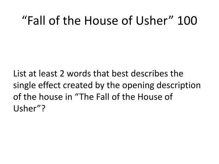 """""""Fall of the House of Usher"""" 100"""