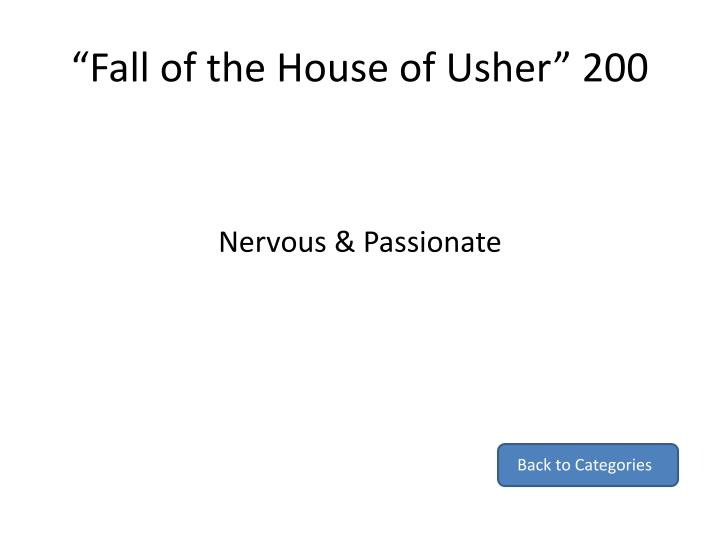"""""""Fall of the House of Usher"""" 200"""