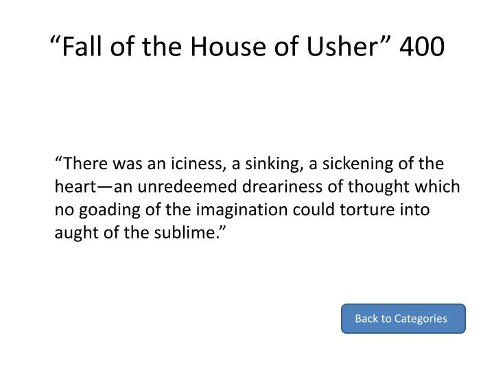 """""""Fall of the House of Usher"""" 400"""
