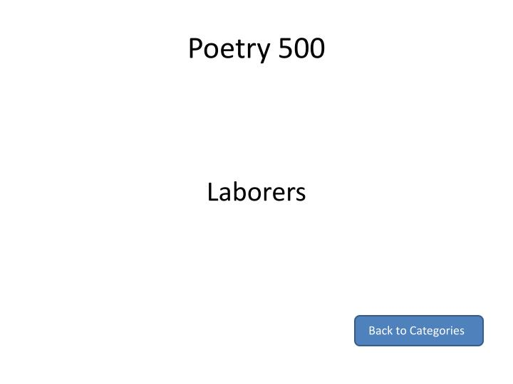 Poetry 500