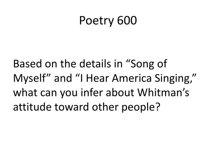 Poetry 600