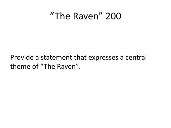 """The Raven"" 200"
