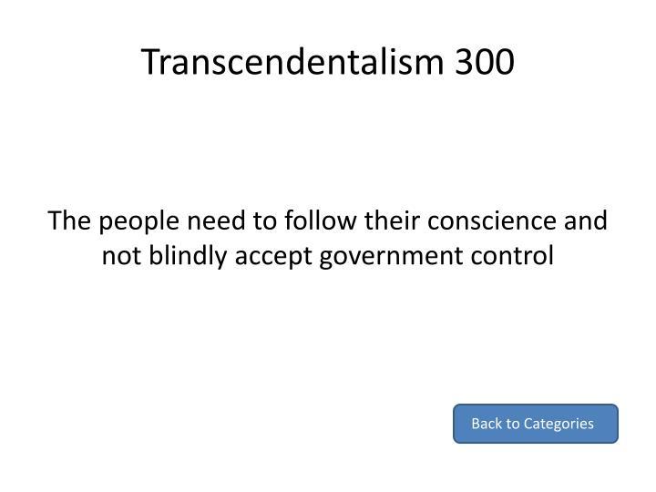 Transcendentalism 300