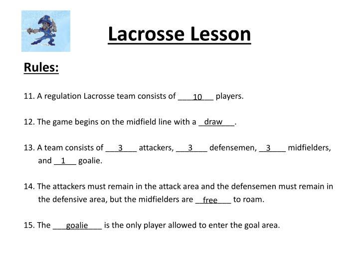 Lacrosse lesson