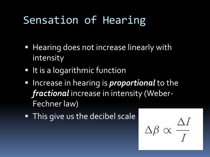 Sensation of Hearing