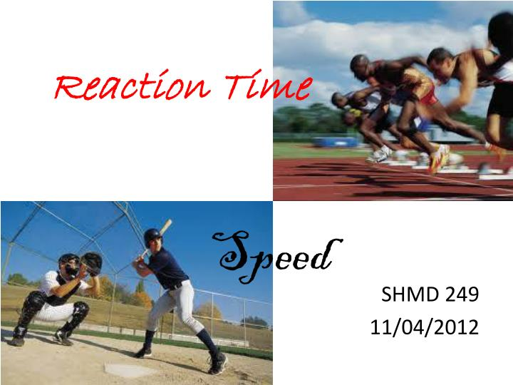 Ppt - Reaction Time Powerpoint Presentation