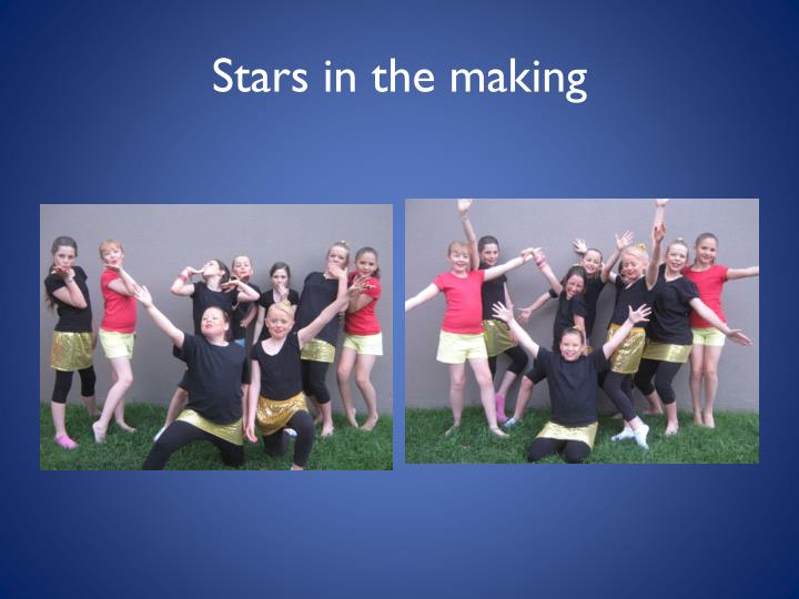 Stars in the making