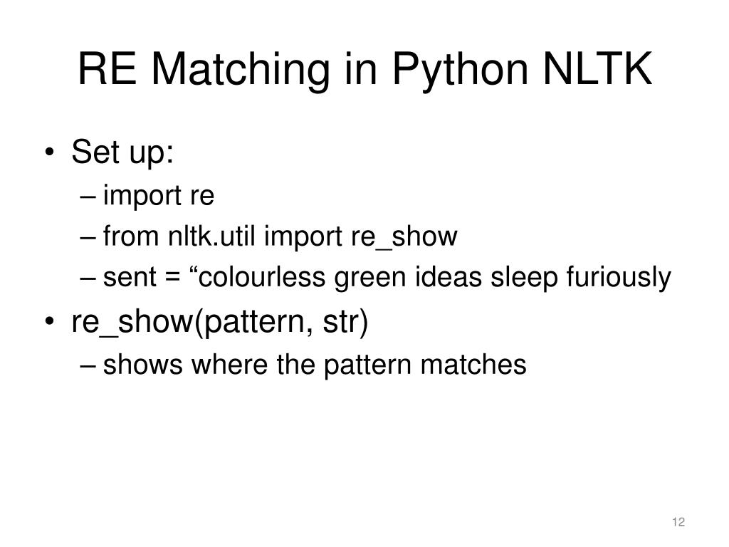 PPT - Lecture 4: Matching Things  Regular Expressions