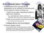 anti globalization struggle