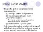 internet can be used to