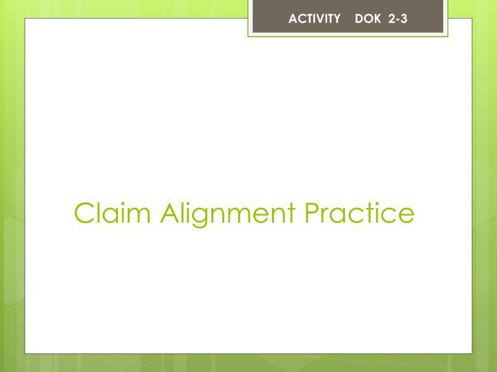 ACTIVITY    DOK  2-3
